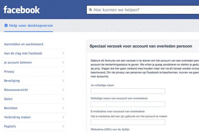 Facebook na overlijden
