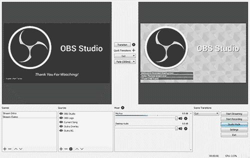 YouTube encoder OBS Studio